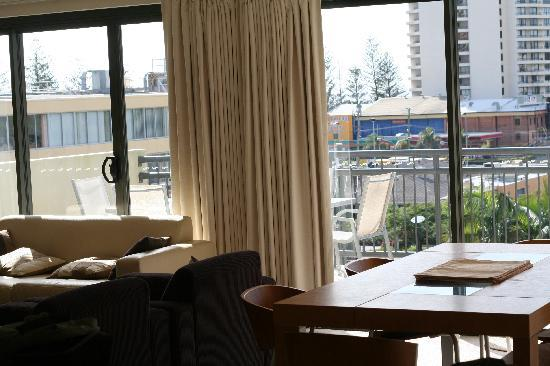 The Village at Burleigh Heads: View from lounge to balcony