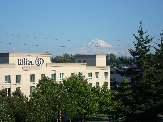 Hilton Seattle Airport Conference Center Hotel And Mt Rainier From Seatac