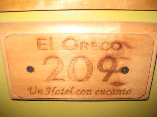 Hotel El Greco : room number
