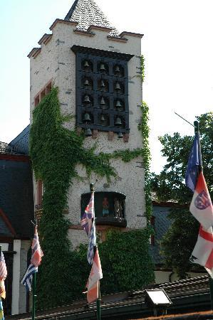 Breuer's Ruedesheimer Schloss : 'THE' Clock Tower and Bells