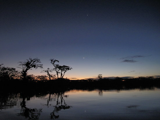 Cuyabeno Wildlife Reserve, Ecuador: One of our awesome sunsets