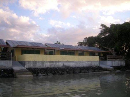 Lopana Villas taken from lagoon