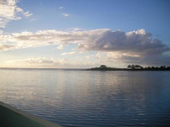 Looking across Lagoon from Lopana Villas