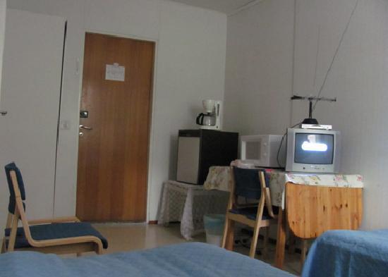 Facilities inside a room in Moottorimaja, Kempele