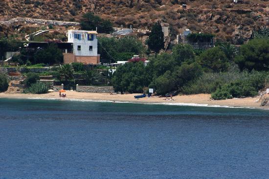 Levrossos Beach Apartments: Levrossos from across the bay