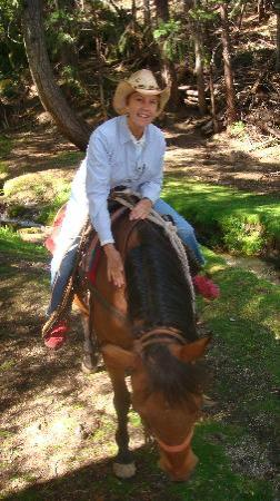 Coffee Creek Ranch: my sister and her horse JD
