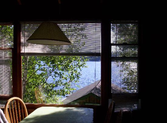 The Pines on Boshkung: View from Loon's Nest dining table