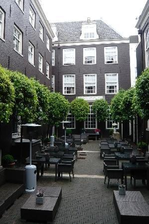 The main courtyard where one can dine and drink