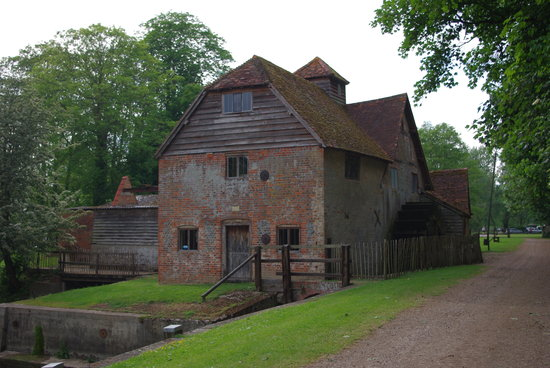 Working water mill on the Thames