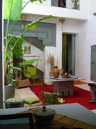 Riad Safir : Salon in the recently added part