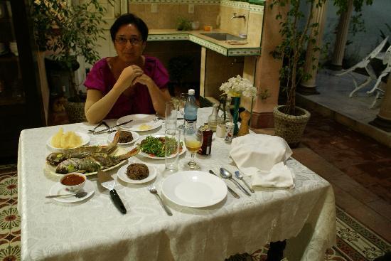 Hostal Autentica Pergola: cena con i pargo (i dentici dei caraibi)