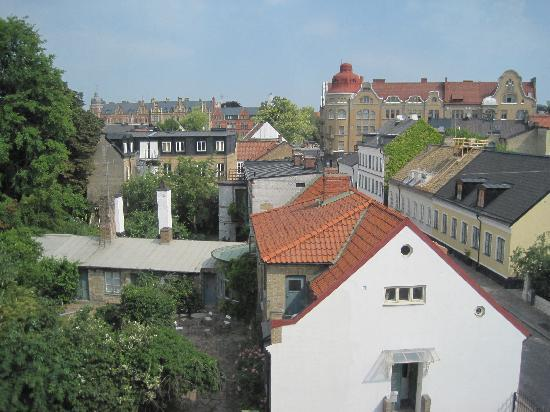 Lund, Schweden: View from the hall outside my room, floor 3