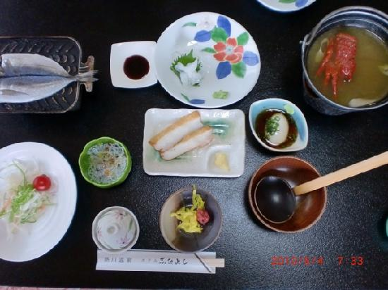 Hotel Shinayoshi: 朝食です。