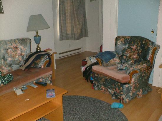 Merry's Motel: living room
