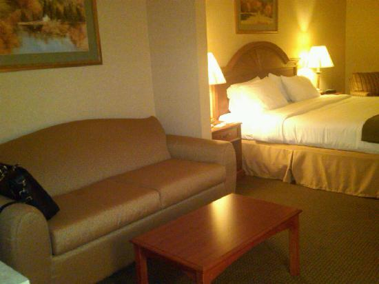 Holiday Inn Express Hotel & Suites Drums-Hazelton: Pull out sofa in king suite.