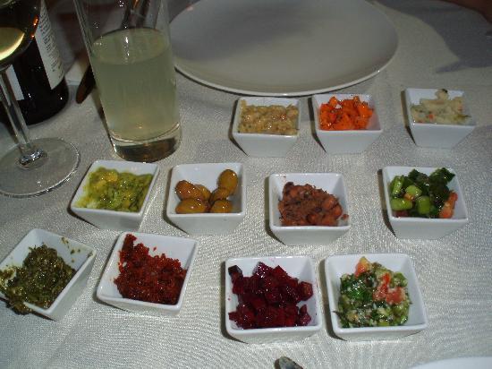 The Eucalyptus : starter dips & salads