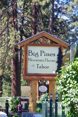 hotel sign picture of big pines mountain house of tahoe. Black Bedroom Furniture Sets. Home Design Ideas