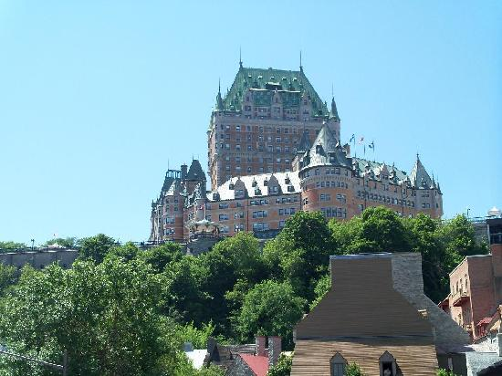Quebec City, Canada: view from lower town to upper town