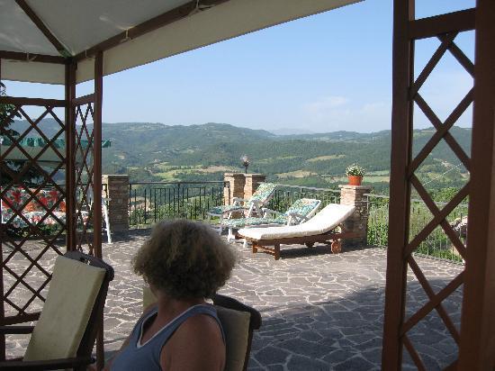 La Terrazza del Subasio: terrace view
