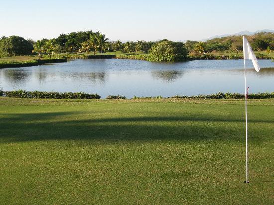 Marina Ixtapa Golf Club: looking back from 9th green