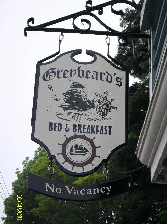 Greybeard's Bed & Breakfast : The Greybeard's sign