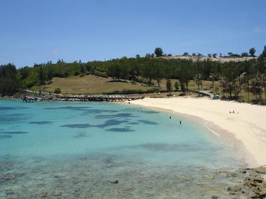St. George, Bermuda: View of St Catherine beach from fort