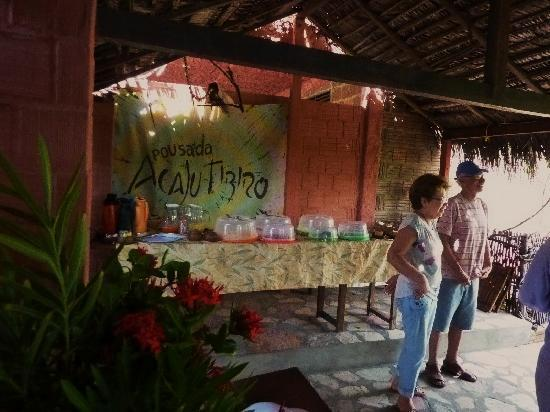 Baia da Traicao, PB: Lendemain de fête : tout était prêt pour accueillir ses clients et amis .