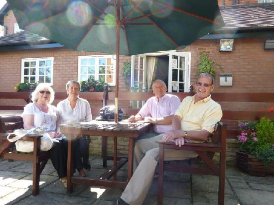 The Grange Hotel: Relaxing on the patio