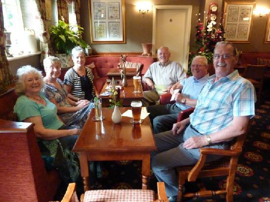 The Grange Hotel: Relaxing in the bar