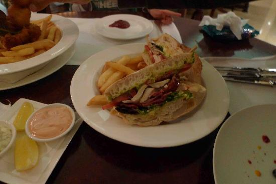 The Langham, Sydney: The chicken club sandwich