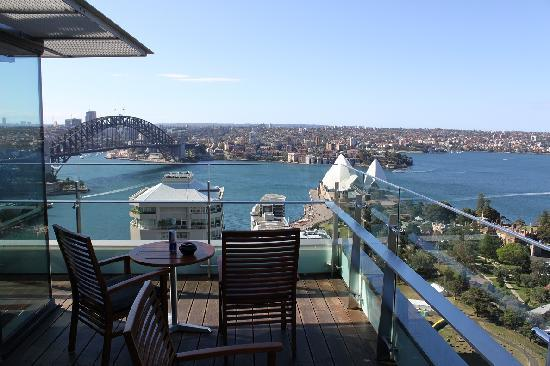 The opera house and the harbour bridge from the club for The balcony bar sydney