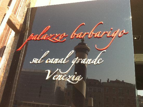 Hotel Palazzo Barbarigo Sul Canal Grande: enseigne