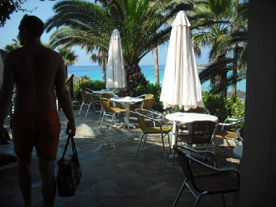 Nissi Beach Resort : pool bar with veiws of the sea