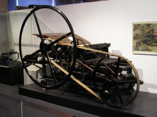 Gutenberg-Museum: A kind of old printing machine