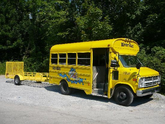 Smoky Mountain River Rat: River Rat Bus & Trailer