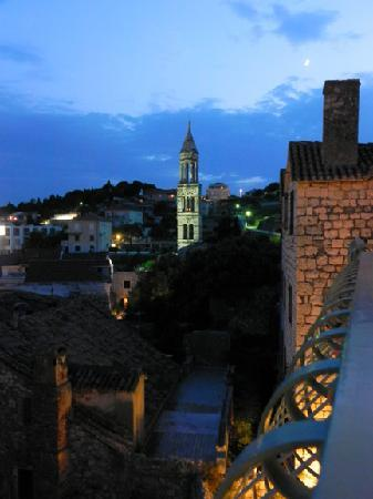 Hotel Park Hvar: View from room at night
