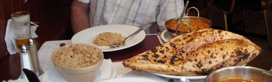 Sibbo's Delhi Dhabba: Largest nan bread we have ever seen