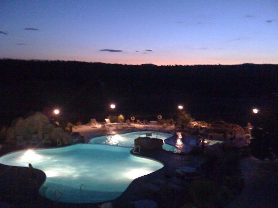 Zion Ponderosa Ranch Resort: After a long day of hiking at the Park, we enjoyed the spectacular view, as well as, the pool!