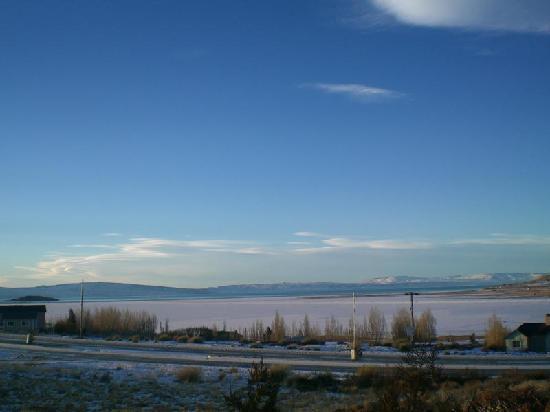 Solares Del Sur : Vista do lago congelado.