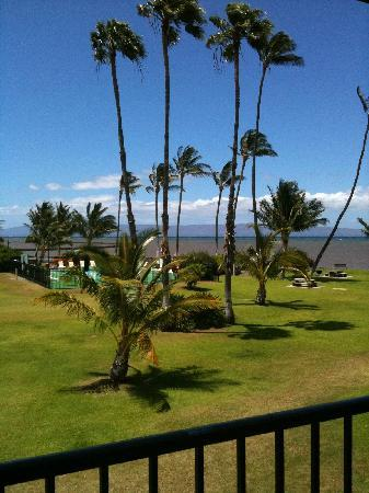 Castle Molokai Shores: View from deck of pool, ocean, Maui