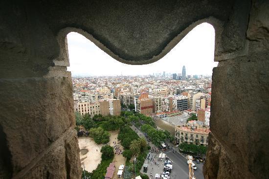 Barcelona, Spain: View from La Sagradia Familia