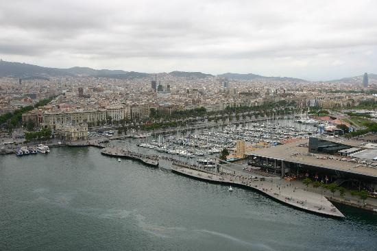 Barcelona, Spain: City view from cable car