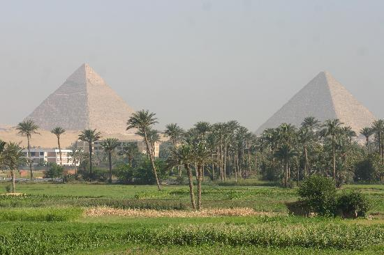 Giza, Egypt: First glimpse of Pyramids