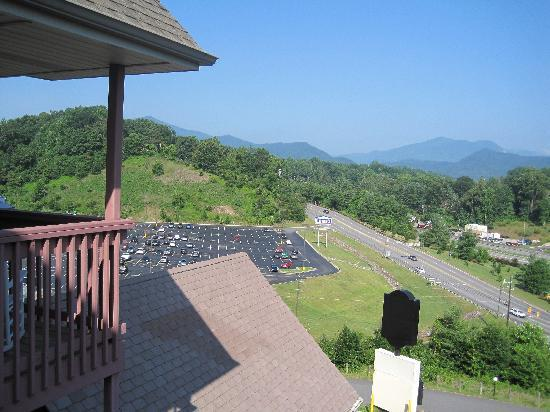 Super 6 - Waynesville: View when looking left from our balcony