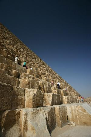 Giza, Egypt: close up of pyramid