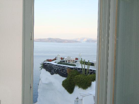Andronis Luxury Suites: view out our window of our room