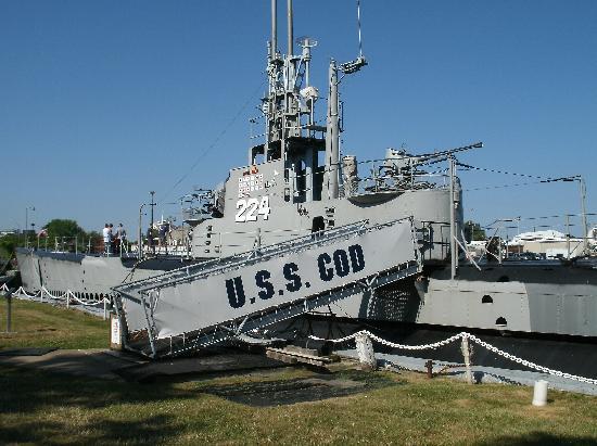 USS Cod Submarine Memorial: Boarding area of US Cod