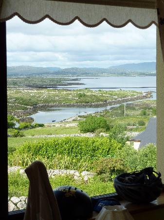 Carna, Ierland: View from our room