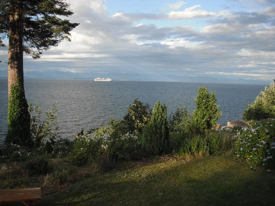 Cruise ships pass by the Edgewater Motel every evening and night during the spring and summer...