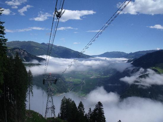 Sporthotel Strass: View towards Mayrhofen from Ahorne cable car 2010